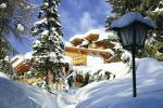 Italský hotel Cristal Palace v zimě